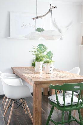 Dining area in sunlight