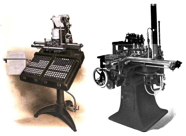Monotype system by Tolbert Lanston in 1885