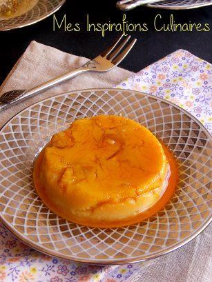 Dessert renverse aux pommes et semoule