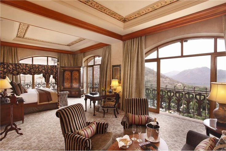 Experience the Opulence of a room in the Lost Palace Hotel.