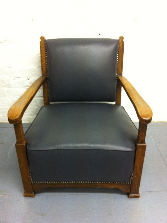 Leather child's chair