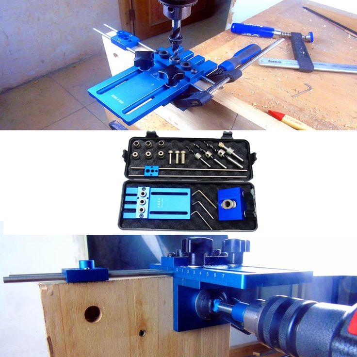 Herramientas para trabajar la madera, diy carpintería carpintería de alta precisión pasador plantillas kit, 3 en 1 localizador de perforación, perforación 08450a guía kit(China (Mainland))