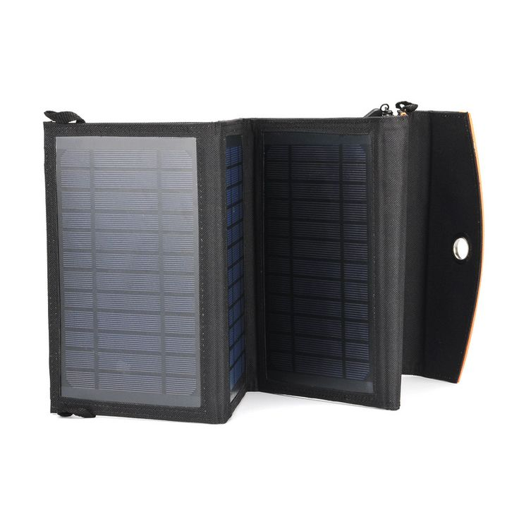 If you are looking for the ideal portable solar charger for outdoor use, then you have found what you are looking for. This portable solar panel is foldable, made with weatherproof PVC and supports ch