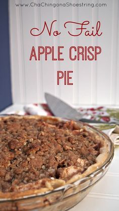 Apple crisp in a pie? Amazing! This is the recipe everyone asks for - it is a must try!