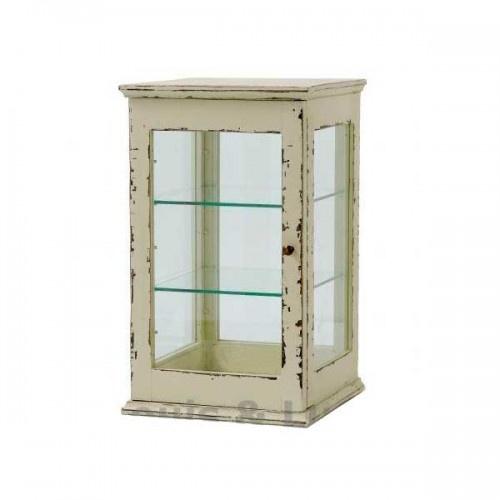 Glasskab i hvid patina fra Nordal - Nordal - 1119kr