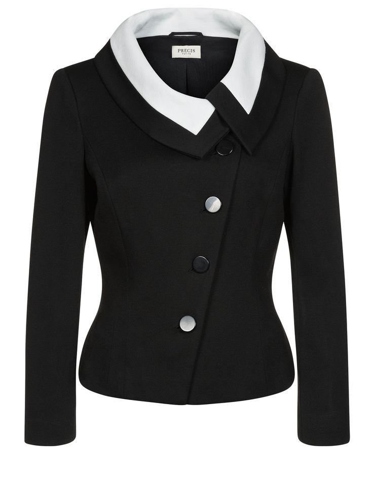 Precis Petite Contrast Asymmetric Jacket