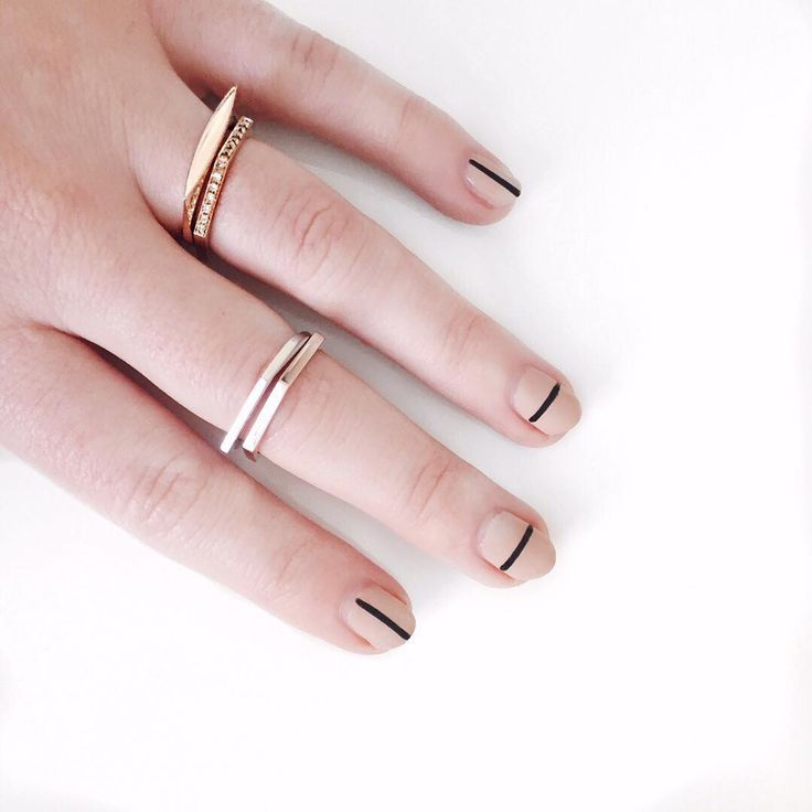 the modern girl's estate jewelry with a modern mani to match.