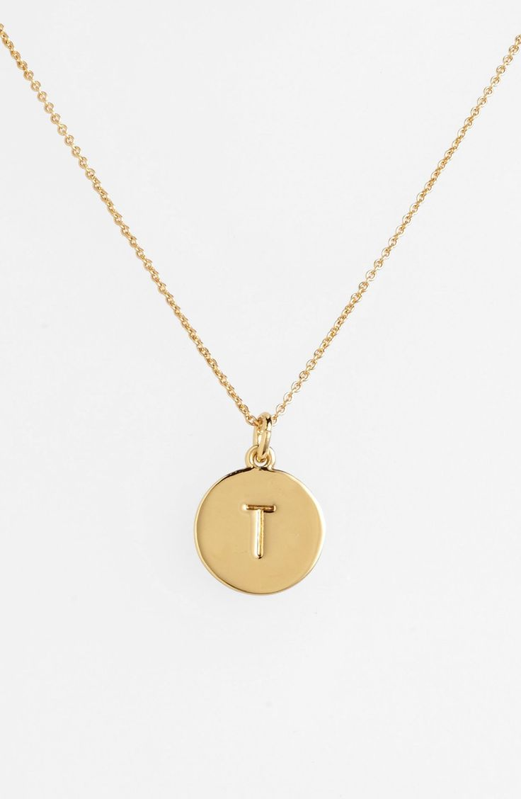 kate spade new york 'one in a million' initial pendant necklace available at #Nordstrom (in P and R)