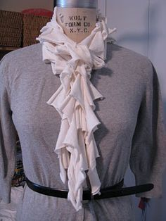 Upcycled T-shirt scarf. This is one of my fav scarves online!