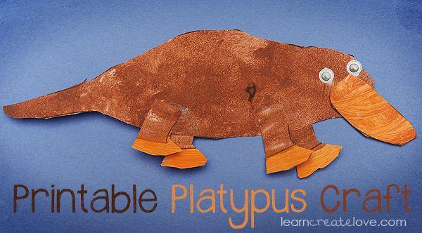 printable platypus