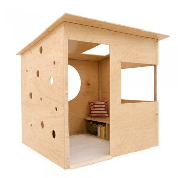 simple playhouse structure-add some paint and a window box-oh my so cute!