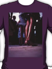Young lady dancing in Spanish wedding party dance Hasselblad  analog film still life photo T-Shirt