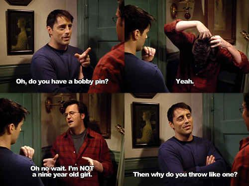 When they burned each other with equal severity, displaying the equality in their relationship. | 25 Moments When Joey And Chandler Won At Friendship
