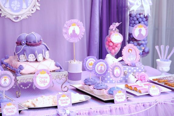 SOFIA Party - Mini Party - Disney Princess Party -  Sofia the First Party - Girl Birthday - Bridal Shower - Purple Princess Party on Etsy, $12.00