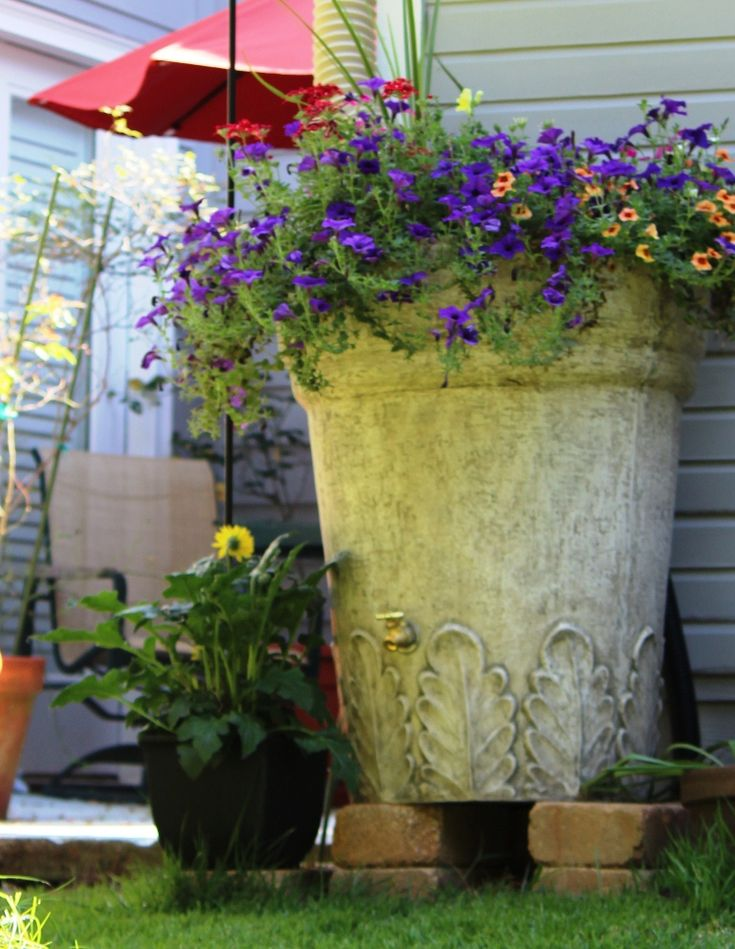 gorgeous rain barrel from rainbarrelsorg - Decorative Rain Barrels