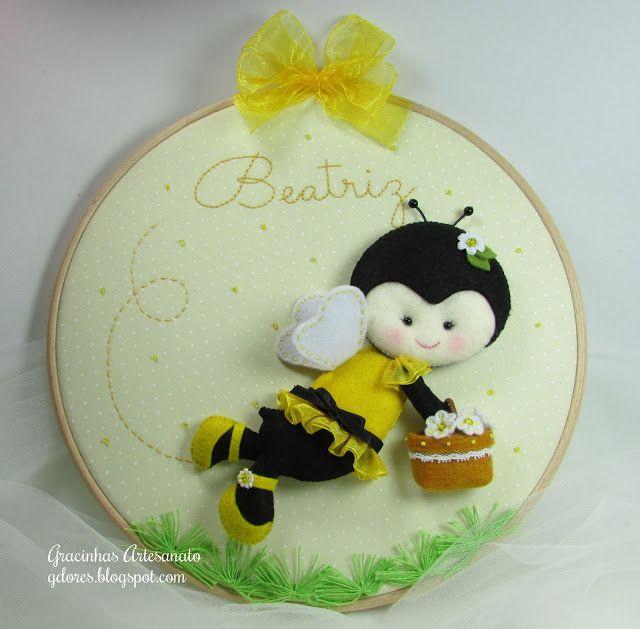 abelha feltro (felt bee) | Gracinhas Artesanato