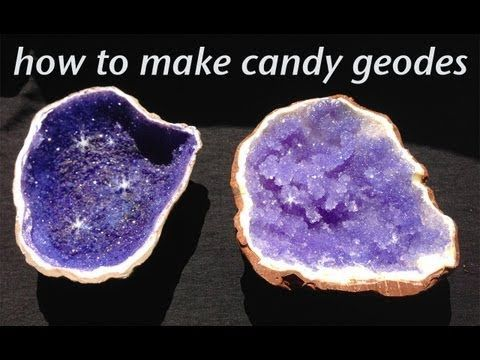 How to make your own Rock Candy Geodes! Looks really cool. I have to try this sometime!