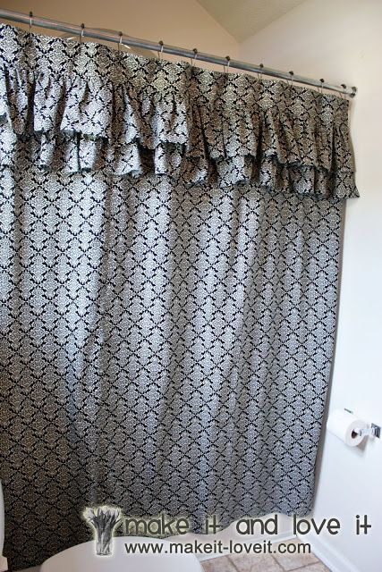 Decorate My Home, Part 17 - Ruffled Shower Curtain | Make It and Love It