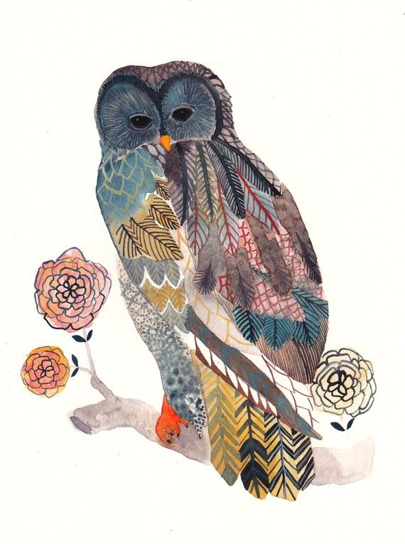 I'm a sucker for an owl!Painting Art, Owls Tattoo, Illustration, United Thread, Owls Art, Barns Owls, Blue Owls, Birds, Archives Prints