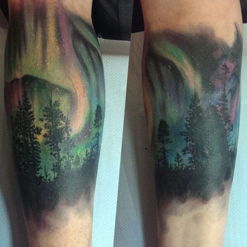 aurora borealis tattoo - Google Search