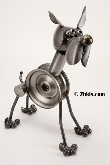 210 best garden animal statues images on pinterest animal boxer sculpture a unique boxer statue made from scrap metal parts he looks as sciox Image collections
