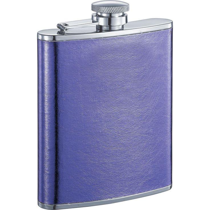 Visol Violet X Satin Purple Liquor Flask - 6 ounces (Purple) (Leather)