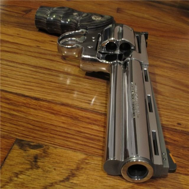 "Colt Anaconda Although the Anaconda is known mostly as a .44 Magnum revolver, Colt did produce them in .45 Colt as well. They're a bit harder to find, with the 4"" barreled version being the most..."