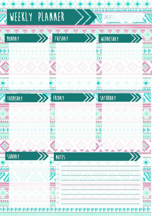 Best 25+ Weekly planner printable ideas on Pinterest ...