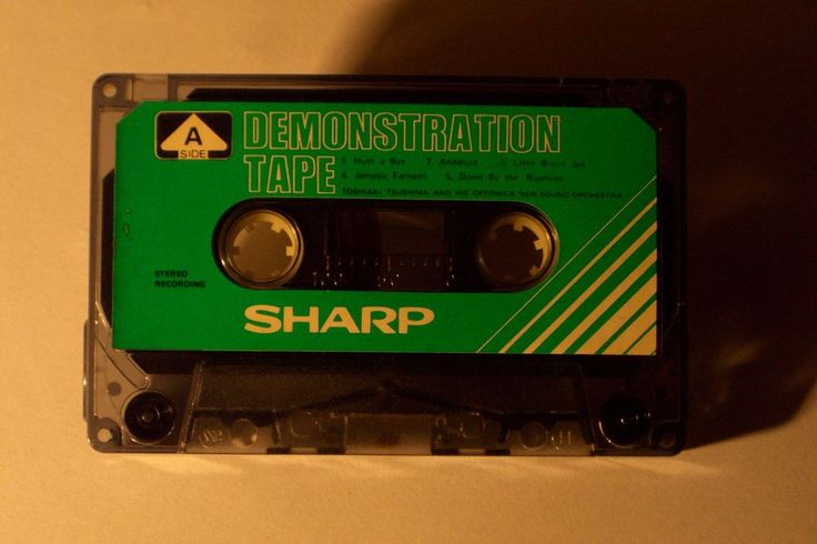 SHARP DEMONSTRATION VINTAGE AUDIO CASSETTE TAPE ( USED )( TYPE I )(JAPAN ) RARE! #SHARP