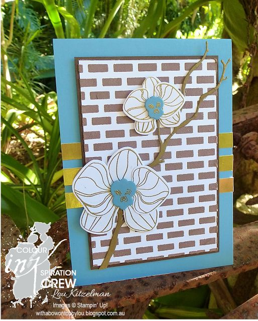 Climbing Orchid, Stampin' Up!, Colour INKspiration, With a bow on top