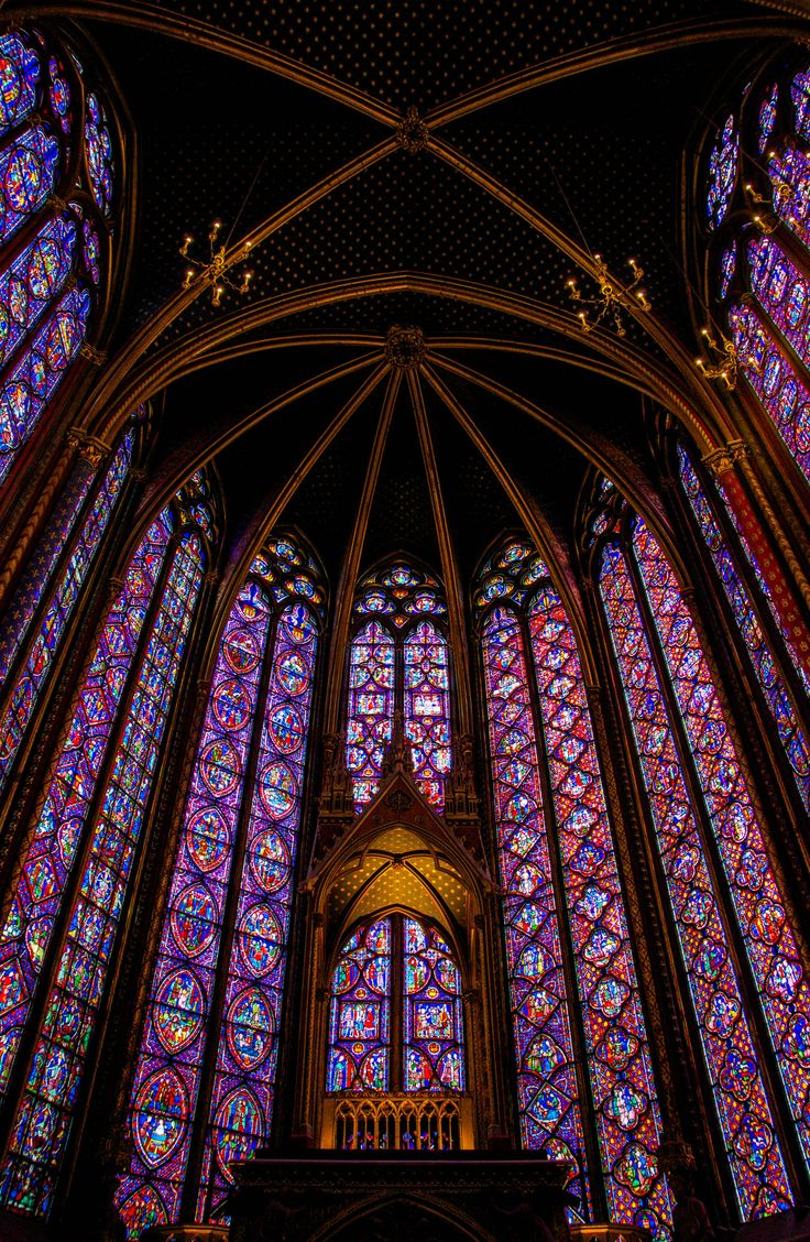 The Faerie's Cathedral  @ Sainte-Chapelle, Paris - One of the most extensive in-situ collections of 13th century stained glass in the world.