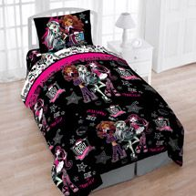 Walmart: Black Friday Only! Mattel Monster High Creep Cool Reversible Twin Bedding Set