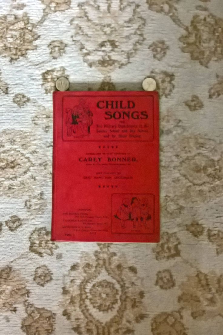 Children's hymn book with music, first published 1908, 1942 reprint, edited by Carey Bonner