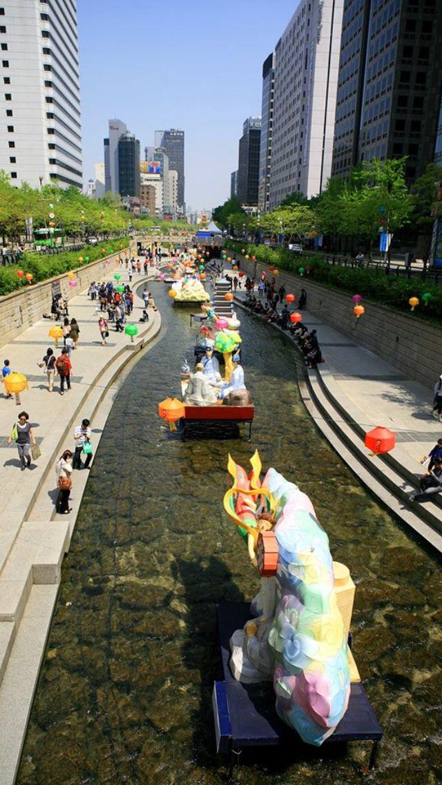 #Seoul, South Korea, Walking street                                                                                                                                                      More