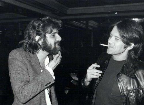 Glenn Frey and Randy Meisner at a Grammy party, c. 1978.
