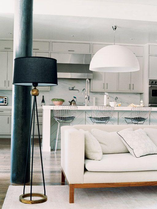 Soho home of DwellStudio founder Christiane Lemieux, photo by William Abranowicz, as seen in Domino Magazine