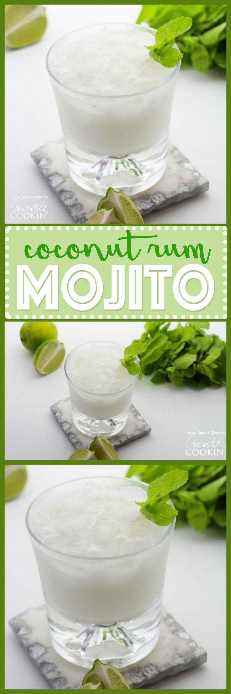 Coconut Rum Mojitos: Refreshing, cooling mint and coconut lime are combined making a classic summer flavor. Oh so tropical and satisfying!