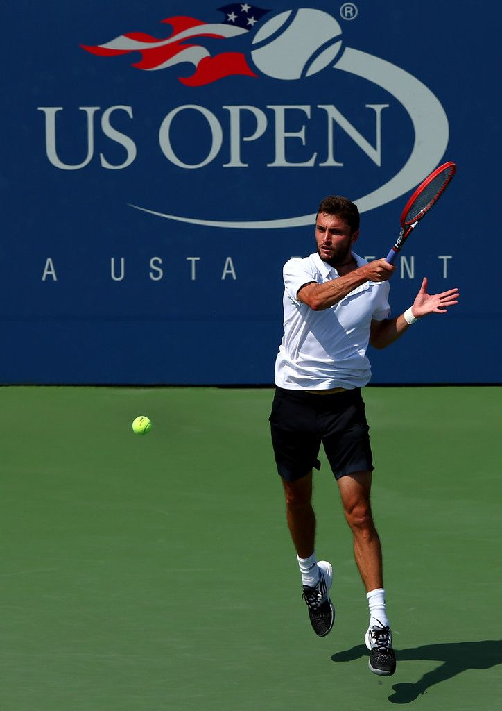 Gilles Simon of France Photos: 2014 U.S. Open - Day 7 [awesome picture]