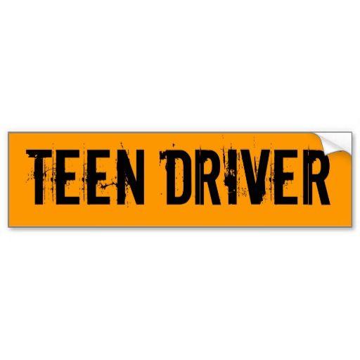 Hows my teen driving bumper sticker