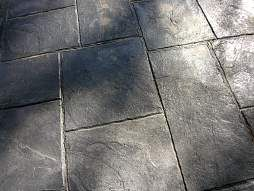 Etched Concrete patio Flooring