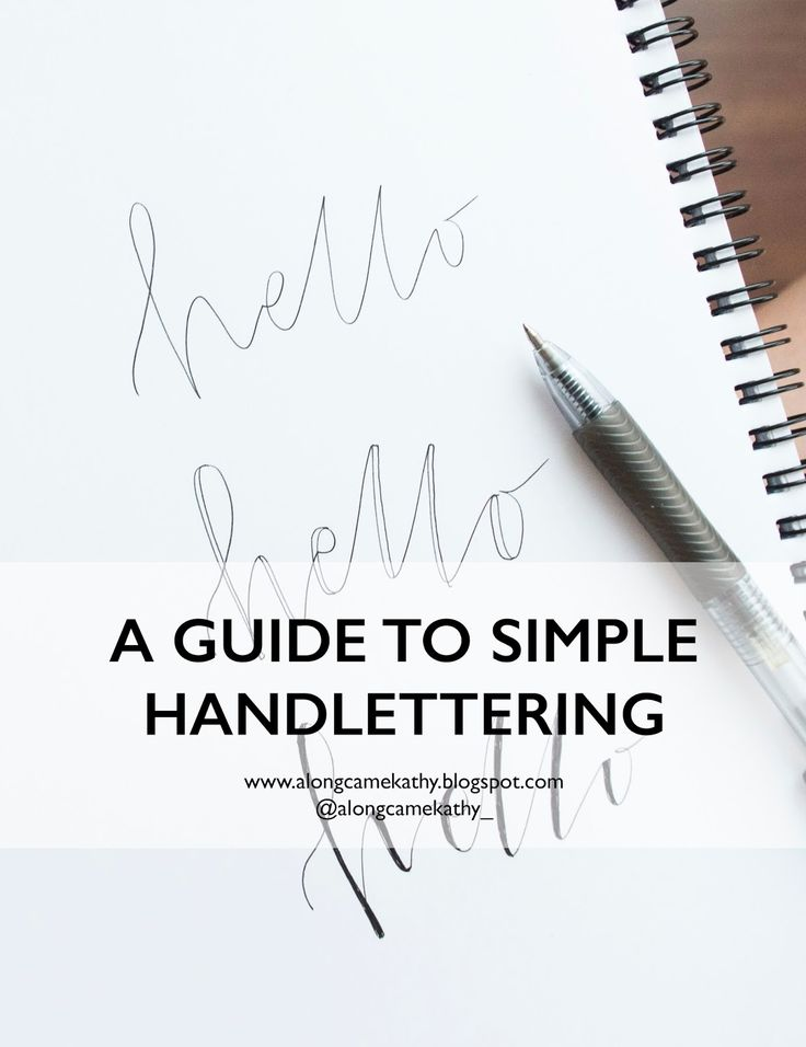 A guide to easy and simple handlettering.  Bullet journalling ideas, hand lettering, easy typography, easy calligraphy, modern calligraphy @alongcamekathy_ www.alongcamekathy.blogspot.com