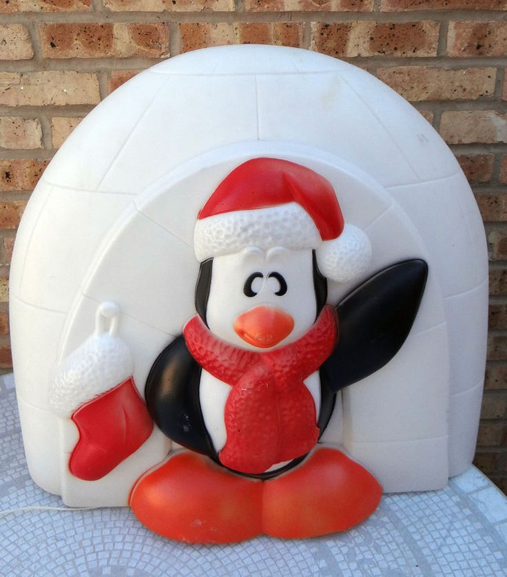 25 Quot General Foam Penguin W Igloo Lighted Christmas Blow