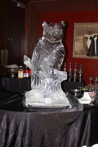 Owl Ice Sculpture Luge In Woodridge, IL