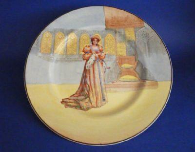 Royal Doulton Shakespearean Characters 'Katharine' Series Ware Rack Plate c1933