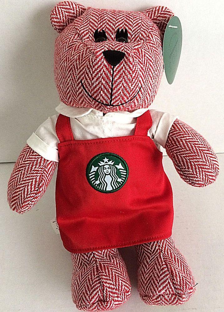 Plush Bear Starbucks Bearista Bear Red Apron Holiday 2016 New in Box #Starbucks
