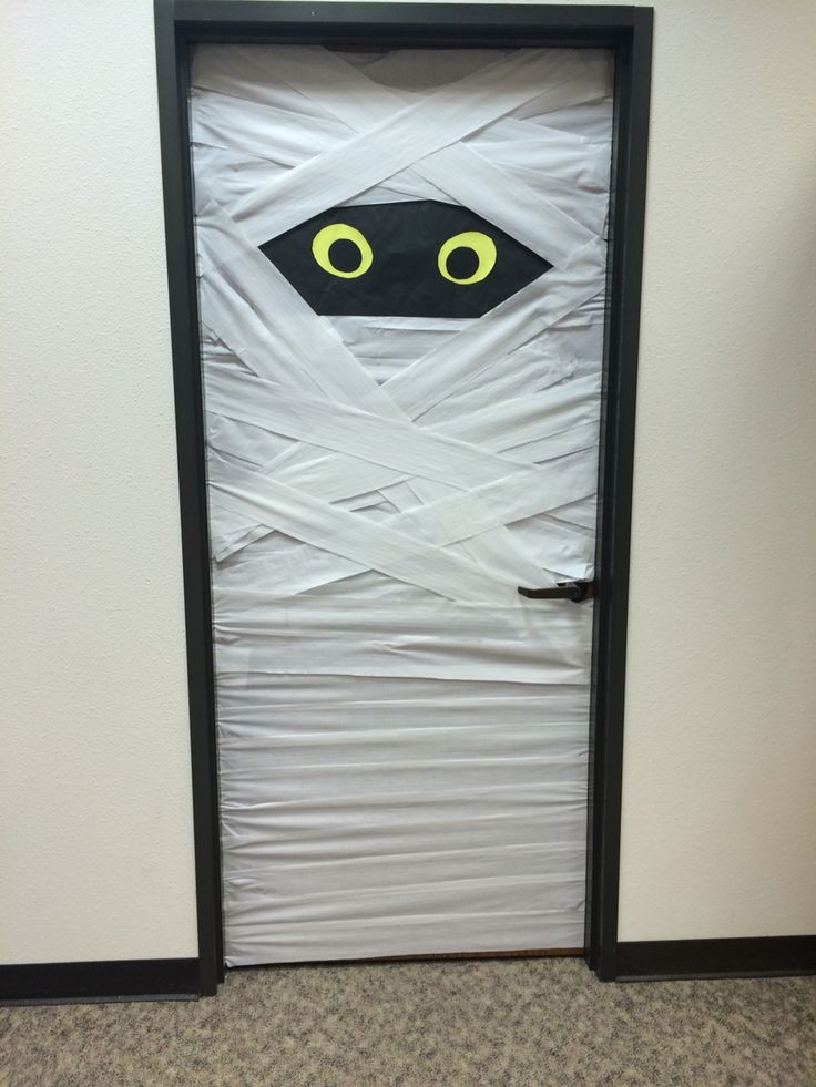 Mummy door done at library for Halloween. Decorations. : mummy door - pezcame.com