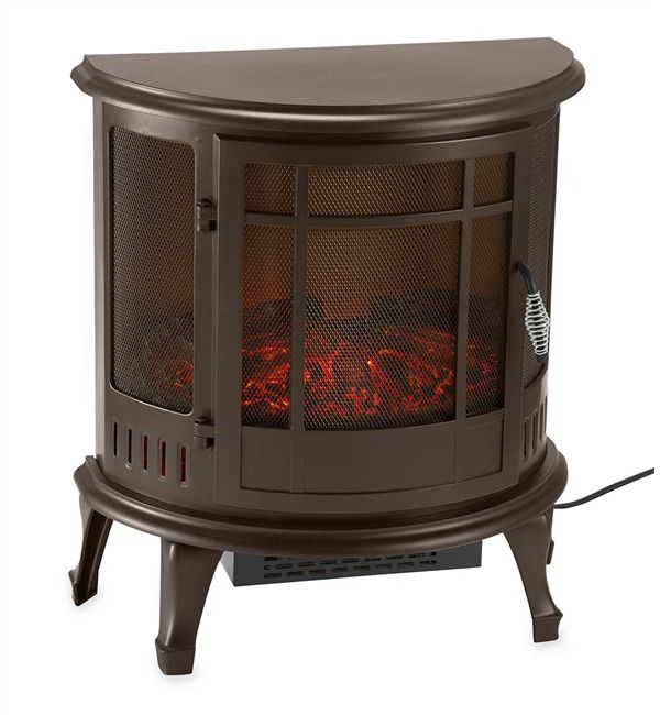 Electric Wood Stove ~ Electric wood stove heater curved