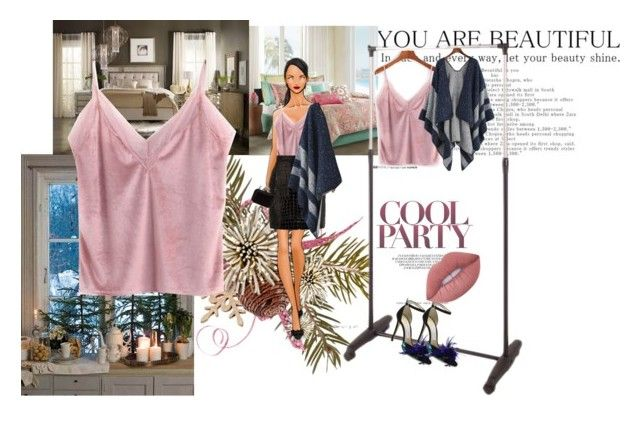 """Delicately Pink Camisole ( ROMWE Contest )"" by gigi-sessions ❤ liked on Polyvore featuring Echo, Hooker Furniture, Yves Saint Laurent, Jimmy Choo and Lime Crime"