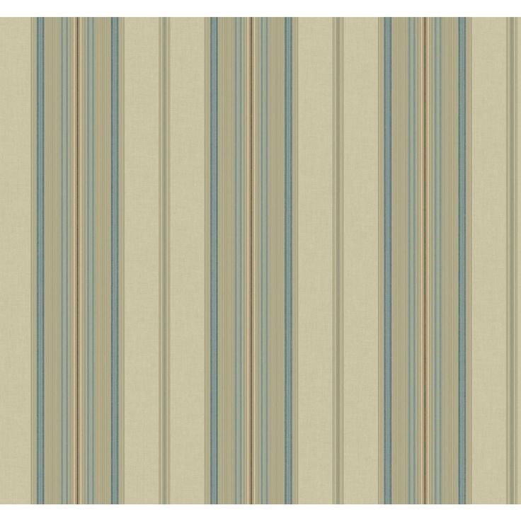 "Williamsburg II 27' x 27"" Amelia Stripe Texture Wallpaper"