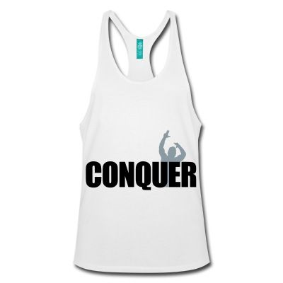 Stringer Tank Top Zyzz Conquer - There have been two conquers living in this planet. Arnold Schwarzenegger and Aziz Shavershian. This stringer is tribute for the sickest conquer of all time, aesthetic God, Zyzz!